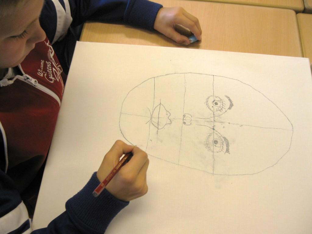 zelfportret met de klas